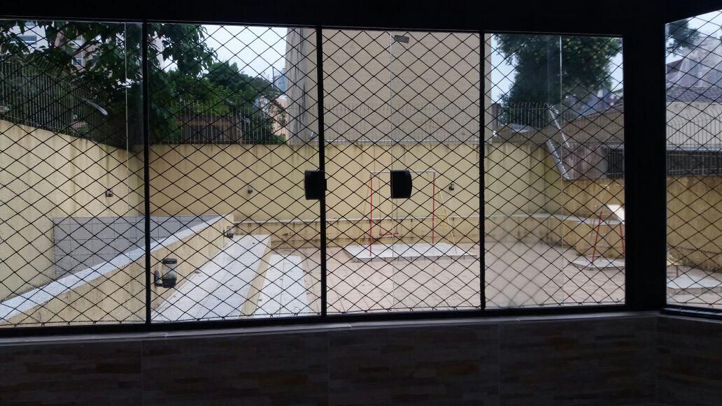 rede de proteção instalada em Colombo